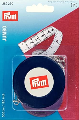 each Prym Extra Long cms /& inches Jumbo Spring Tape Measure 3m 282260