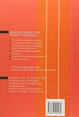 Análisis Sintáctico Teoría Y Práctica Colección Gómez