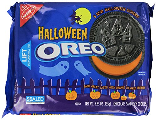 Oreo Halloween Cookies Chocolate Sandwich Treats 5 Shapes 15.35 Oz. (Pack of 2)