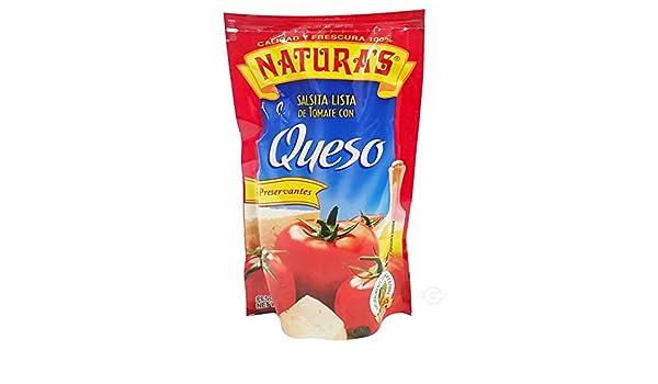 Amazon.com : NATURAS Cheese Salsa Con Queso Sauce, 8 oz, 6 Piece : Grocery & Gourmet Food