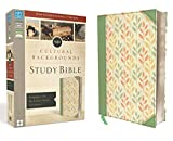 NIV, Cultural Backgrounds Study Bible, Imitation Leather, Green, Red Letter Edition: Bringing to Life the Ancient World of Scripture