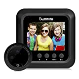 2.4-inch Smart Electronic Door Viewer, Anti-burglary WIFI Visual Doorbell Camera Monitor Night Vision Peephole Wide Angle Lens Home Use(black)