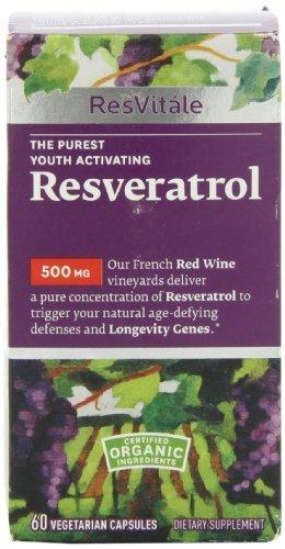 Resvitle Resveratrol 500mg 60 Vegetarian Capsules By Resvitale