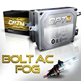 OPT7 Bolt 25w AC H10 (9140, 9145) Fog Light HID Kit - Relay Bundle - All Bulb Sizes and Colors - 2 Yr Warranty [5000K Diamond White Xenon]