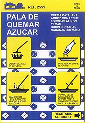 Menajes Utilar Pala de Quemar azúcar 10cm Pavonado.