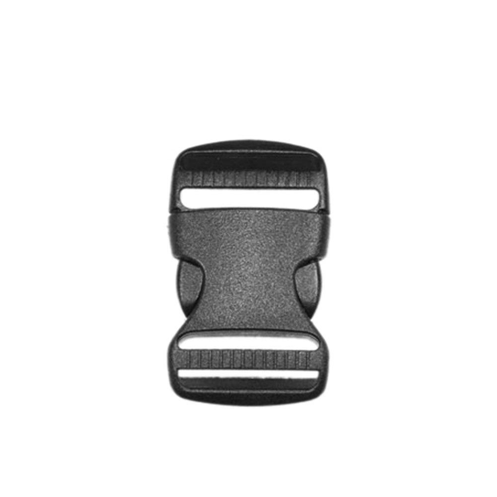 10 Pack Plastic Hardware 1-1/2(38mm) Side Release Buckle Dual Adjustable Outdoor Camping Tactical Backpack Belt Strap Webbing Bag Accessories 5 size Pick (1-1/2(38mm) Dual Release) CooBigo FLC010-A 10pcs