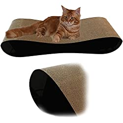 Premium Cat Scratcher Lounge Bed - Black Acrylic