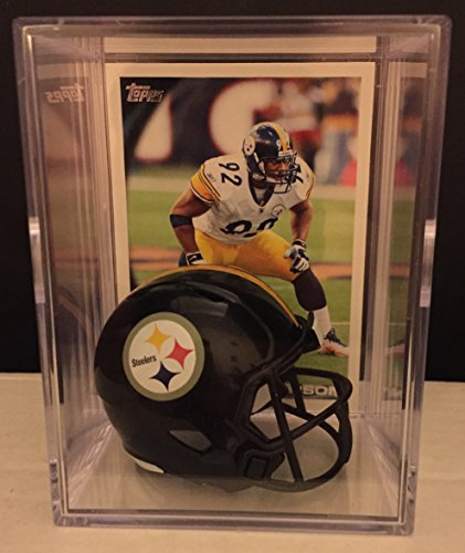 Pittsburgh Steelers NFL Helmet Shadowbox w/ James Harrison card