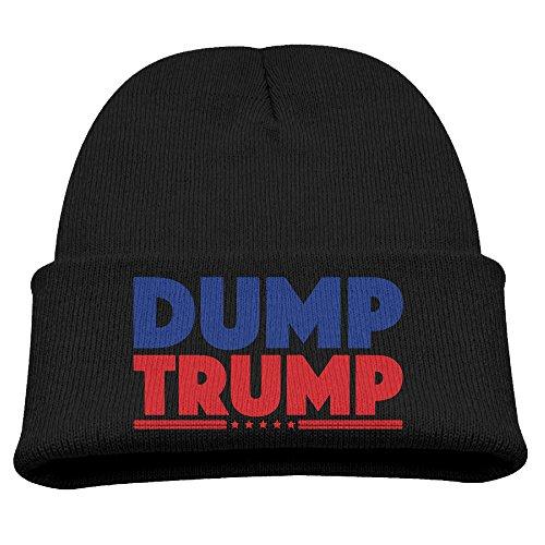 AsenraChild's Skull Cap Dump Trump Knit Beanie Black