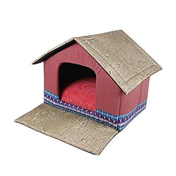 Cabaña para mascotas Cuna para gatos Pequeña casa para perros Cabaña Cómoda Casa para perros Kitty