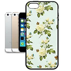 Bumper Phone Case For Apple iPhone 5/5S - Vintage Yellow Roses Protective Premium