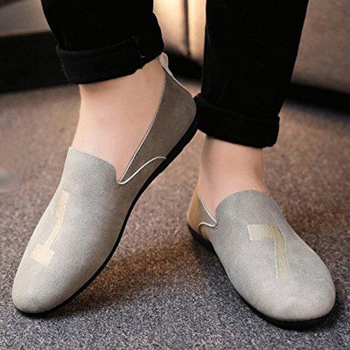 Perezosos De Verano Guisantes Beijing Versión Zapatos Sociedad Coreana Tela Hombres Gray Viejos Liuxueping Guy U7X6qwU