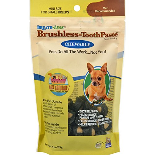 Ark Naturals Breath-less Brushless Toothpaste, Medium & Large Breed Dogs (18 oz) - Packaging May Vary