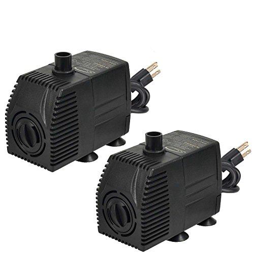 Simple Deluxe LGPUMP160GX2 Submersible Fountain Pump, Black by Simple Deluxe