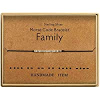 Kaiross Morse Code Armbanden Lucky Sieraden Zilveren Armbanden Kralen Op Zijden Koord Armband Gift Verstelbare String…