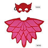 iROLEWIN Little Girl Wing Cape Mask – Dressing Up Costumes for Kids Party Gift-Red 51mT3gyEAgL