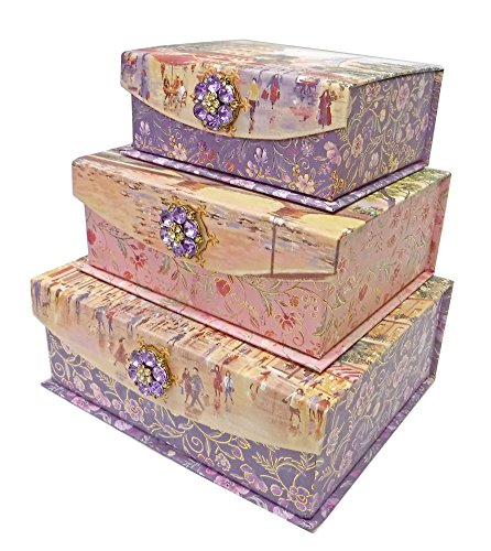 Punch Studio Paris Promenade Flap Trinket Nesting Boxes