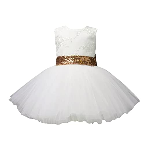 dcdd581c7dc Dressydances Ball Gown Flower Girl Dresses With Sequined Big Bowknot For  Wedding (2