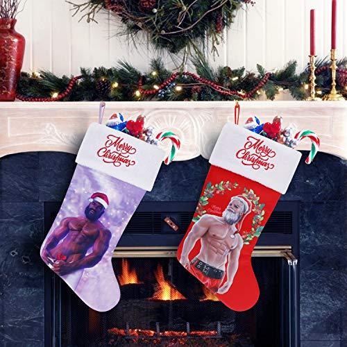 Cheap Chic Seasonal Hot Santa Christmas Stocking (Black Santa) 20