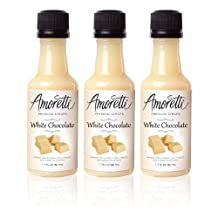Amoretti Premium White Chocolate Syrups, 1.7-Fluid-Ounce, 3-Pack Bottles
