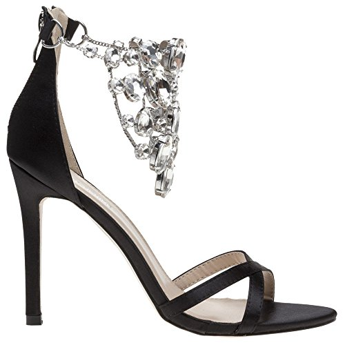 públicos negro sandalias Valentine Deseos negro 0dRxwcq