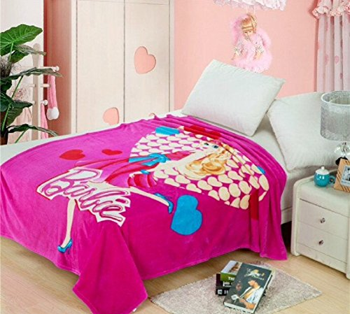 Pink Barbie Fleece throw blanket