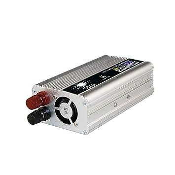 Tellaboull for 2000W DC al convertidor de Corriente alterna DC 12V a 110V / 220V AC Inversor de automóviles Transformador automático con Ventilador de ...