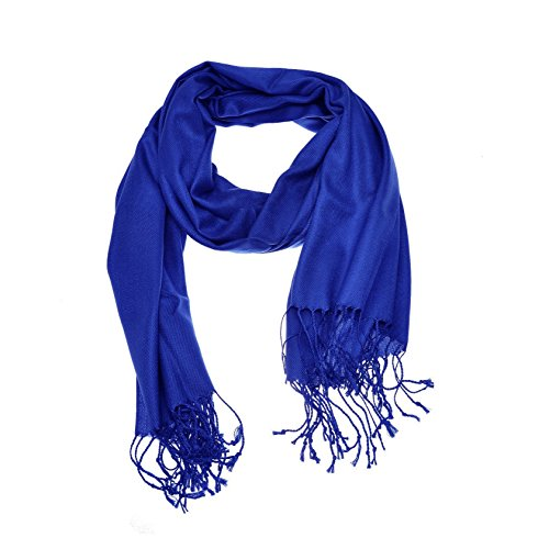 Royal Blue Wrap - Paskmlna Large Solid Color Pashmina Shawl Wrap Scarf 80