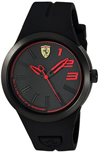 Ferrari-Mens-FXX-Quartz-Plastic-and-Rubber-Casual-Watch-ColorBlack-Model-840016