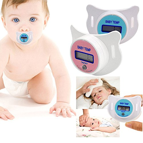 Baby Nipple Digital Thermometer Pacifier Soft for Kids Random Color