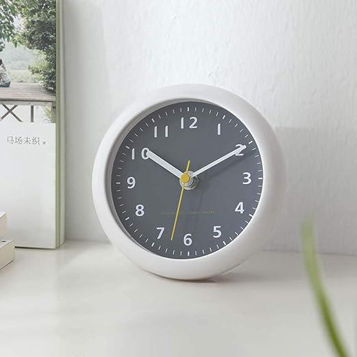 Feng tata Reloj de Pared, baño Simple Reloj Redondo Ventosa Impermeable  Reloj pequeño Decoración Moderna Escritorio silencioso Reloj de Asiento de  6 Pulgadas,Gris: Amazon.es: Hogar