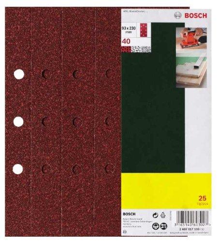 8 opinioni per Bosch 2607017098 25 Fogli Abrasivi