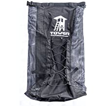 Tower iSUP Backpack - Premium Universal Bag for Inflatable Paddle Boards - Quick Dry l Maximum Breathability l Interior Fin Pocket l Extra Space l Fits Boards up to 14 Feet l Padded Shoulder Straps
