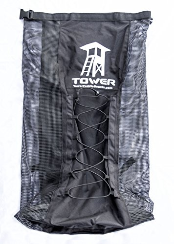 Tower iSUP Backpack - Premium Universal Bag for Inflatable Paddle Boards - Quick Dry l Maximum Breathability l Interior Fin Pocket l Extra Space l Fits Boards up to 14 Feet l Padded Shoulder Straps by Tower Paddle Boards