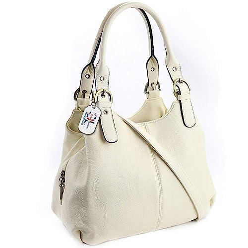 d3e8453ace3a Craze London New Womens Multiple Pockets Medium Size Long Strap Shoulder Bag