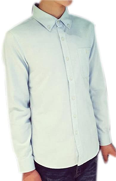 Fuxiang Camisas Hombre Slim Fit Shirt Manga Larga Básica Moda Camisa Casual Cuello Formales Vestir Shirts