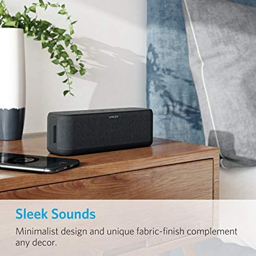 Portable Speakers, Anker Soundcore Boost 20W Bluetooth Speaker with BassUp Technology, 12H Playtime, IPX5 Water-Resistant, Wireless Speaker with Superior Sound & Bass for iPhone, Samsung and More 51mT7Y0fOrL