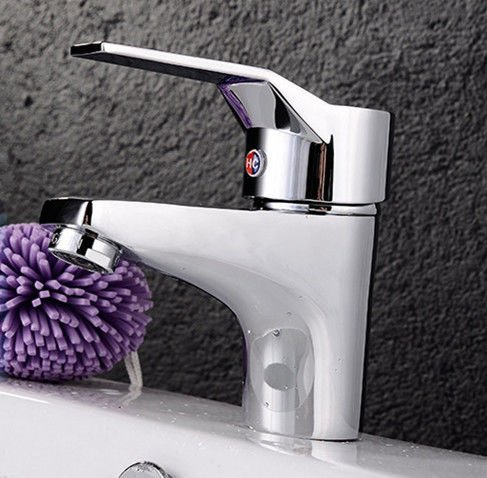 Copper basin faucet washbasin faucet single hole single hot and cold water mixer water saving