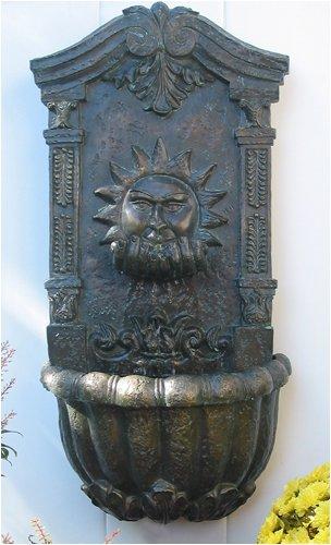 Sun Face Design Wall Fountain