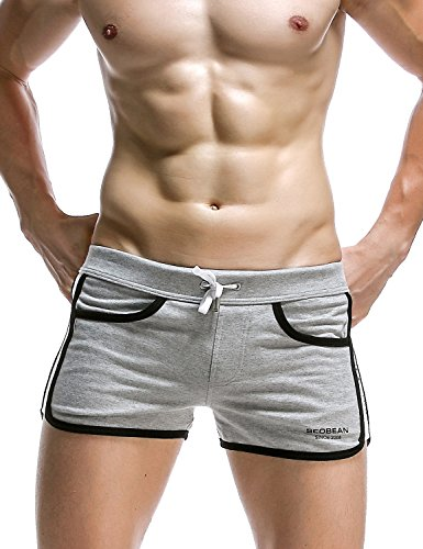 SEOBEAN Mens Low Rise Sexy Casual Short Pants (L(31-33