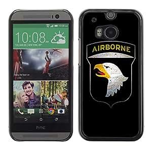 CASETOPIA / Girl With Dragon Tattoo / HTC One M8 / Prima Delgada SLIM Casa Carcasa Funda Case Bandera Cover Armor Shell PC / Aliminium