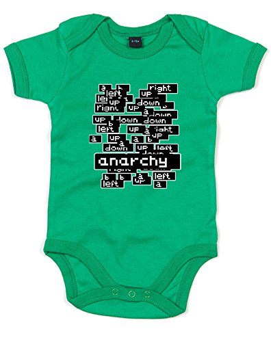Twitch Plays Anarchy  Printed Baby Grow   Kelly Green Transfer 12 18 Months