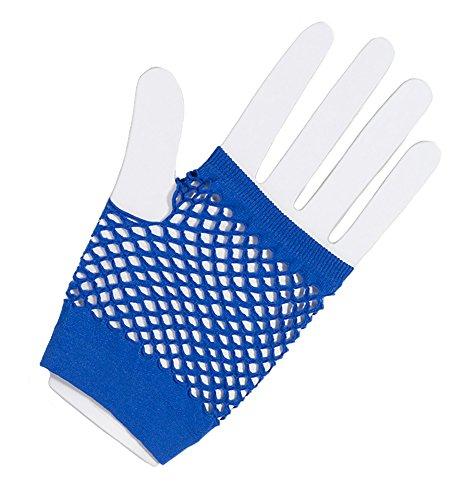 - Forum Novelties Fingerless Fishnet Glove - Royal Blue