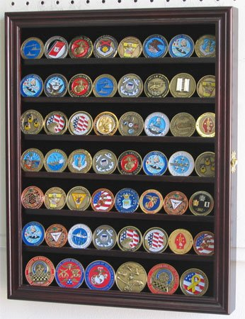 Coin, Medal or Casino Poker Chip Mahogany Display Stand Display Gifts