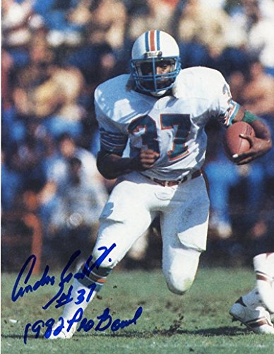 ANDRA FRANKIN DECEASED 1982 PRO BOWL MIAMI DOLPHINS SIGNED AUTOGRAPHED 8X10 PHOTO W/COA