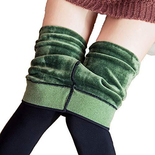 Mujeres Espesa Pantalones Verde Algodón Ainif Caliente Las De Bottomless Usan 8S55Oq