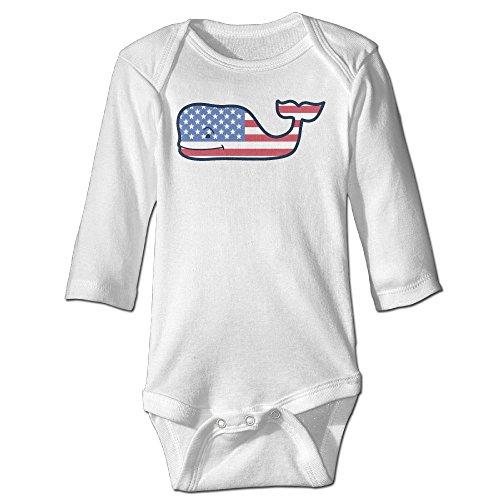 Baby Vines - Vineyard Vines Signature Whale Long Sleeve Baby Onesies Bodysuits
