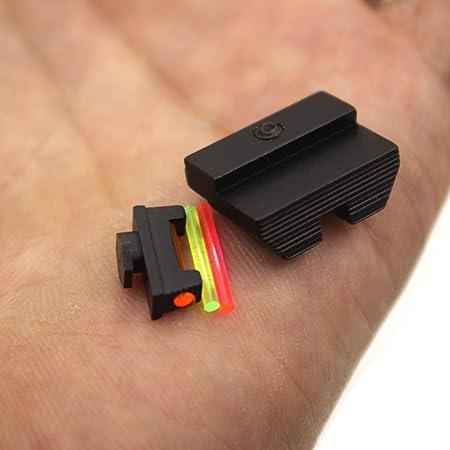 Uokoki Fibra /Óptica Mira Delantera//Trasera de reemplazo de Combate Vista para Glock 17 17C 19 19C 17L