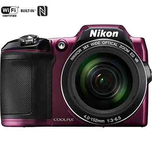 [NIKON COOLPIX L840 16MP 38x Opt Zoom Digital Camera (Plum) Certified Refurbished] (Nikon Coolpix Plum)