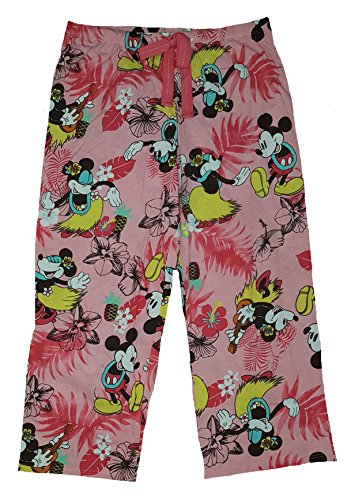 Girl Minion Costumes In Stock (Disney Minnie Mouse Retro Look Capri Sleep Pants For Women (S))